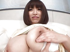 She's pretty busty and likes giving her big boobs for a good suck. Marie loves the attention she receives and she deserves a lot more then some nipple sucking. Watch them and as things get hotter. Maybe this Japanese bitch will end up with semen all over her breasts